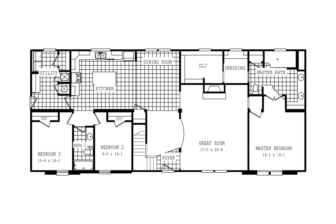 The 3549 JAMESTOWN Floor Plan