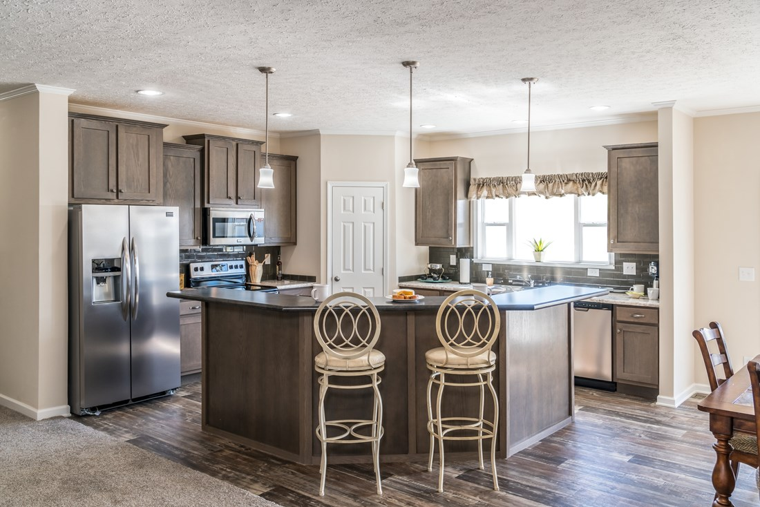 The 3554 JAMESTOWN Kitchen. This Manufactured Mobile Home features 4 bedrooms and 2 baths.