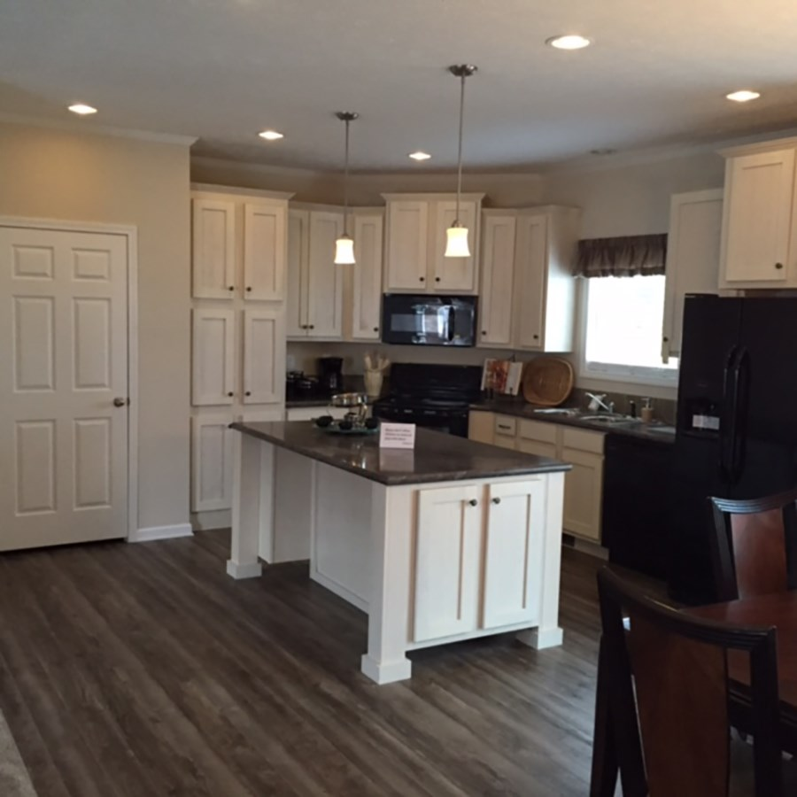 The 3548 JAMESTOWN Kitchen. This Manufactured Mobile Home features 4 bedrooms and 2 baths.