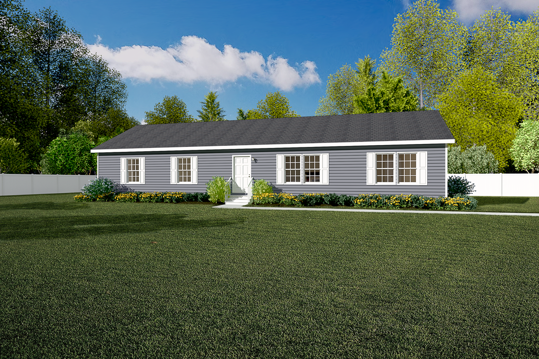 The 3533 JAMESTOWN Exterior. This Manufactured Mobile Home features 3 bedrooms and 2 baths.
