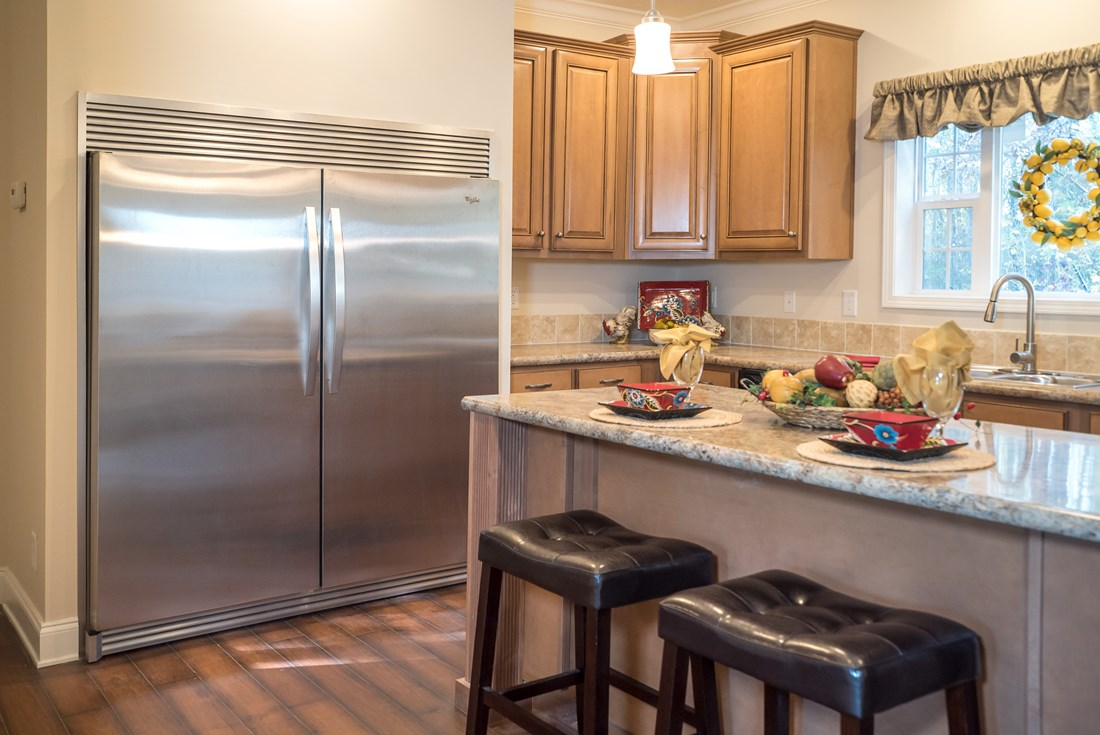 The 3545 JAMESTOWN Kitchen. This Modular Home features 3 bedrooms and 2 baths.