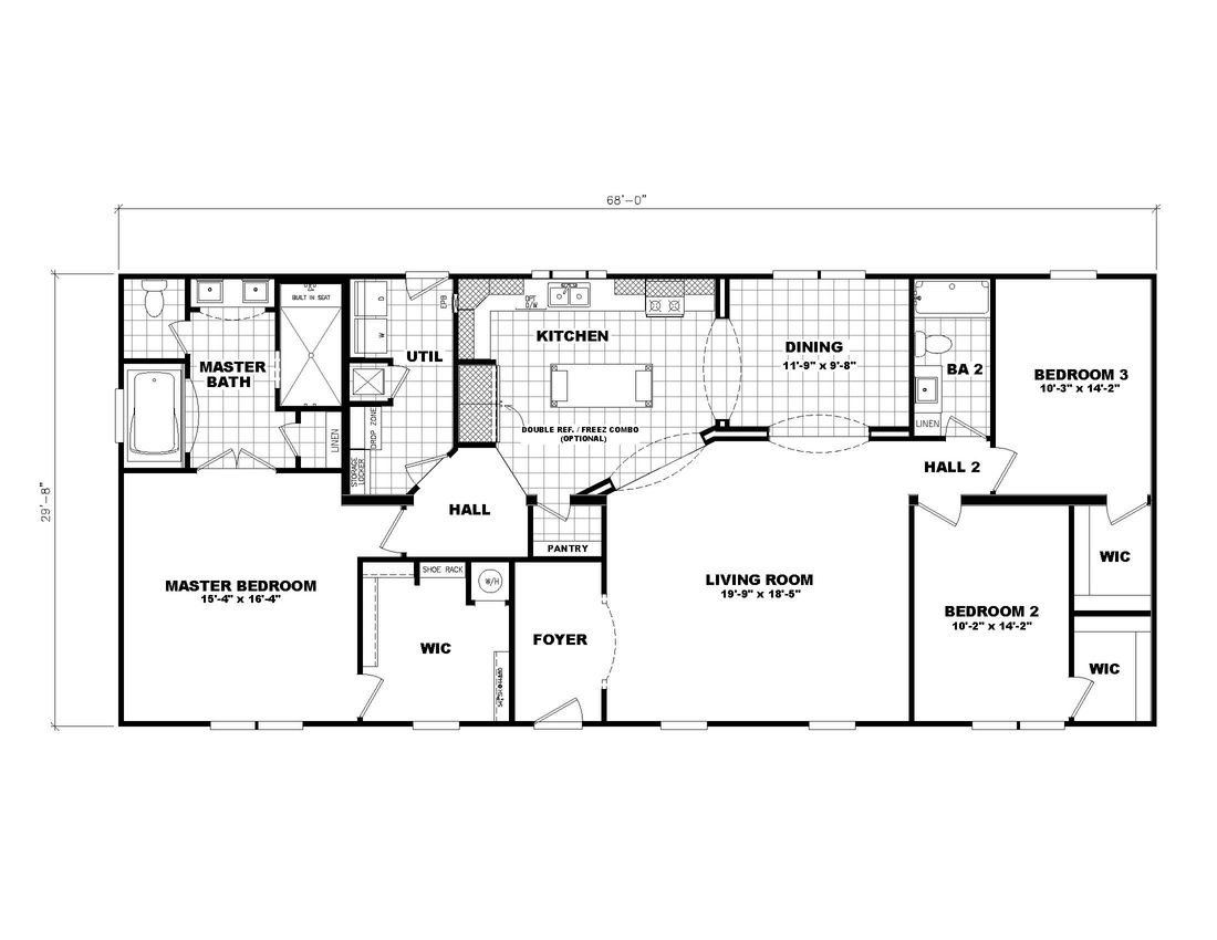 The 3545 JAMESTOWN Floor Plan